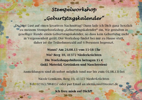Workshop 24.08.